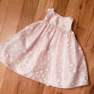 Cherokee Pink Satin Formal Baby Dress